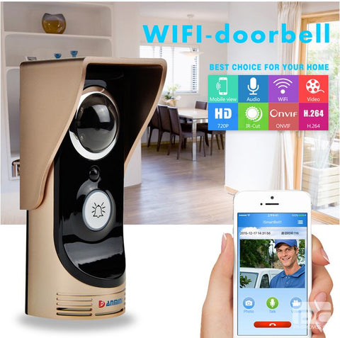 Remote Control Open Lock WIFI Doorbell Wireless Intercom Video Door Phone