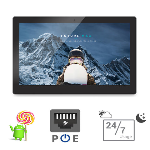 15.6 inch Android POE tablet pc-all in one pc-wall mounting smart TV (Quad core,A9, 1.5GHz, 1GB DDR3, 8GB flash, bluetooth,VESA)