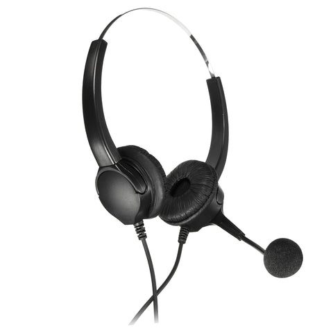Handsfree Call Center Binaural Headphones Telephone Corded Headset Headphone With Mic Noise Cancelling