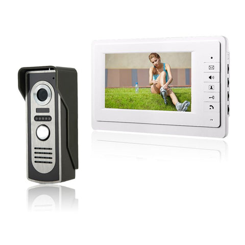 HD 7`` TFT Color Video door phone Intercom Doorbell System Kit IR Camera Doorphone Monitor Speakerphone Intercom