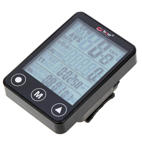 Wireless Bicycle Computer Speedometer Odometer Multifunction Touch Button LCD Backlight Waterproof Bike Computer