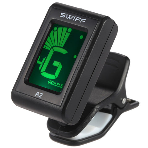 SWIFF A2 Mini Clip-On Automatic Guitar Tuner LCD Digital Tone Tuner for Acoustic Electric Guitar Bass Chromatic Violin Ukulele