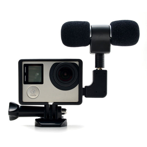 3.5mm Mini Stereo Microphone For Gopro Hero 4 3 Accessories Protective Frame Case Mount For Go Pro Action Camera No Noise Mic