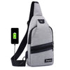Image of New USB Design Chest Bag Women Backpacks Men Sling Bag Crossbody One Shoulder Strap Rucksack Polyester Cross Body Travel Bags