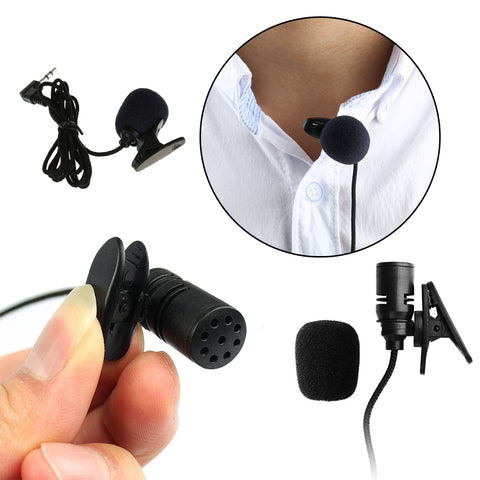 2017 New 3.5mm Mini Headset Microphone Tie Lapel Lavalier Clip Microphone For Lectures Teaching Conference Guide Studio Mic