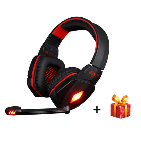 EACH G4000 Pro USB 3.5mm Gaming headphone Stereo Bass Gamer Headsets With Microphone LED Lights For PC Computer Laptop Game