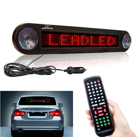 12V 30cm Red Car Led Sign Remote Programmable Scrolling Advertising Message display board Car rear window Moving signs