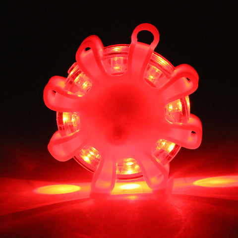 Mini 8* LED Emergency Safety Flare Red Road Flare Magnet Flashing Warning Night Lights Roadside Disc Beacon For Car Truck Boat