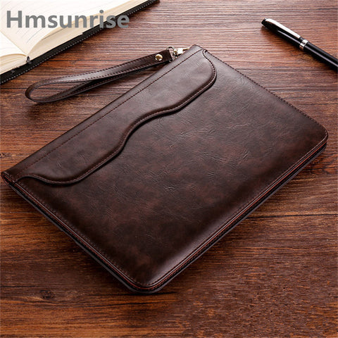 New Hmsunrise Leather Case For apple ipad 9.7 inch 2018 Ultra Thin Folio Flip Stand Cover Auto Wake Sleep for ipad A1822 A1823