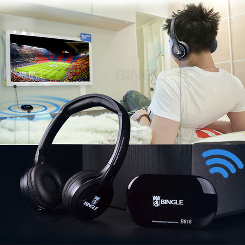 2018 Best Original Bingle B616 Multifunction stereo Wireless with Microphone FM Radio for MP3 PC TV Audio Headset Headphones