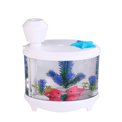 Home Car Ultrasonic Humidifier Mini Fish Tank Acquario USB Air Purifier Atomization Machine Mist Maker Fogger Humidifier