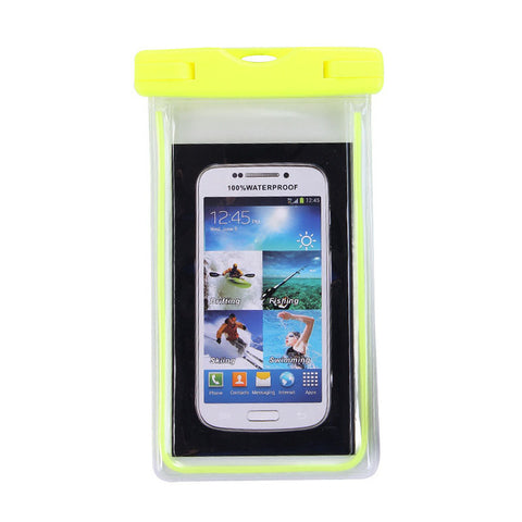 Universal Luminous mobile phone waterproof bag case For iPhone7/5S/6/6S plus/5 Galaxy S7 Cover Swimming Pool Accessories Bags