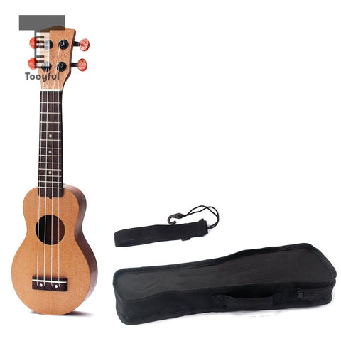 Tooyful 17inch Ukulele Pocket Travel Hawaii Guitar for Kids Beginners Student Adults Player with Bag