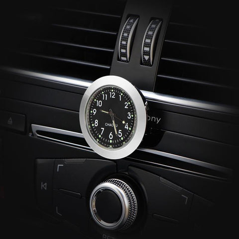 Car Ornaments Auto Air Vents Outlet Quartz Clock Clip Automotive Watch Interior Dashboard Stick On Clock Accessories