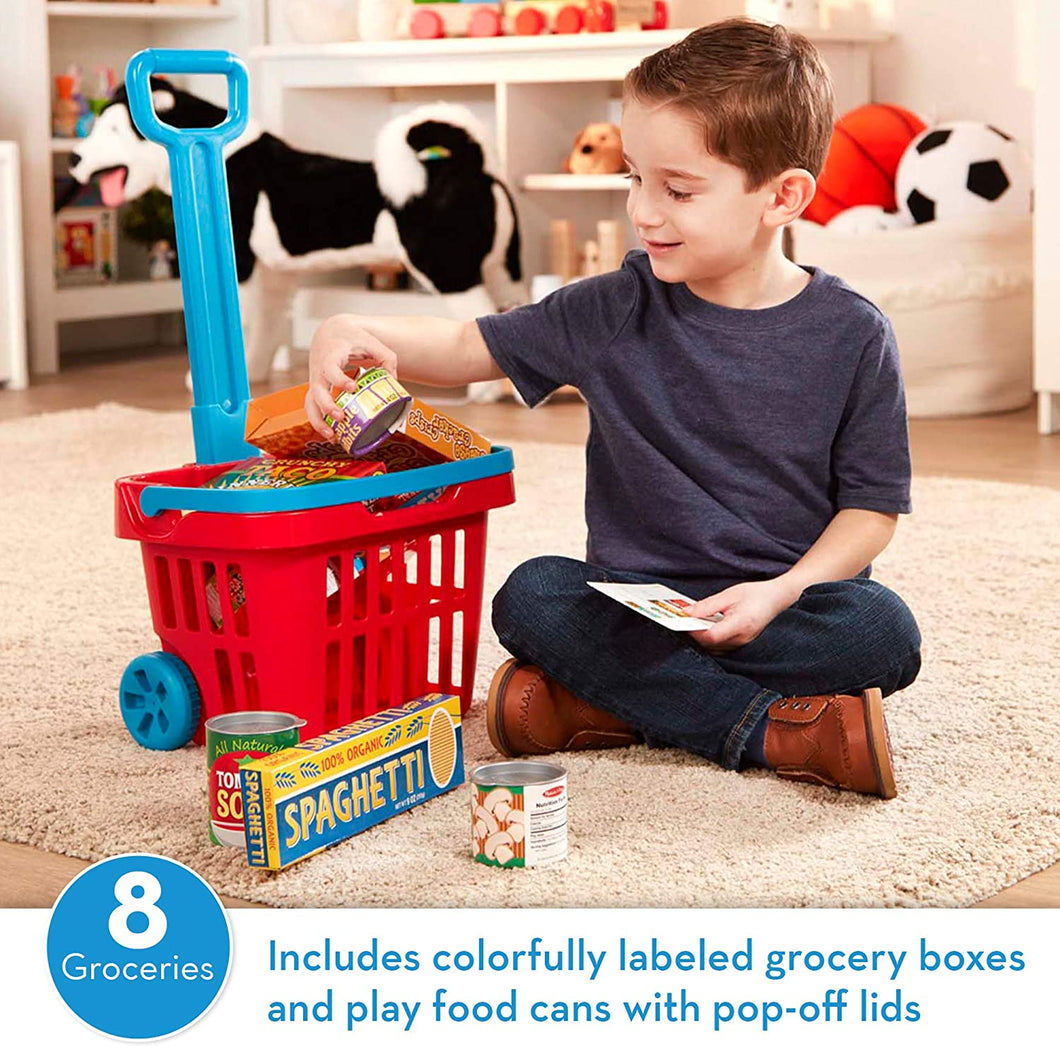 Fill & Roll Grocery Basket Playset