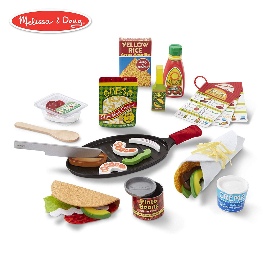Melissa and Doug Fill and Fold Taco and Tortilla Set