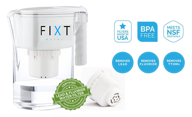 FIXT Premium Water Pitcher & Filter