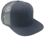 #8638 Flat Bill Polyester Trucker Snap Back