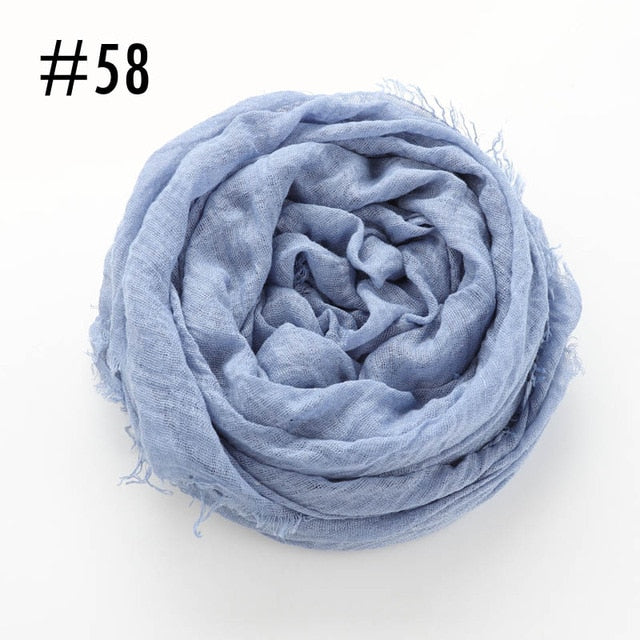 Soft crinkle Scarf (60 colors)