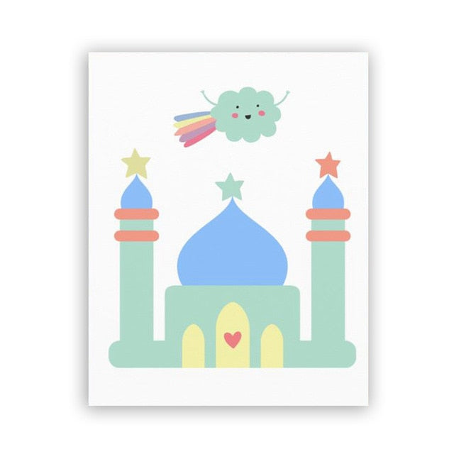 Alhamdulillah-bismillah kids room decor prints