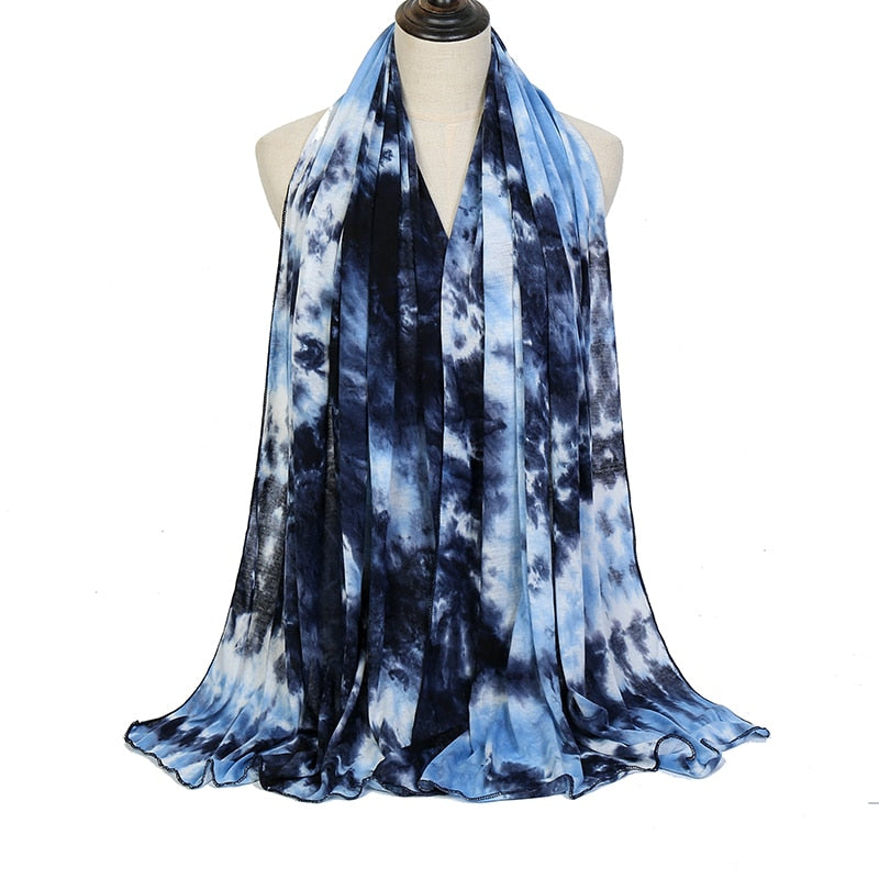 Tie dyed Jersey hijabs (7 colors)