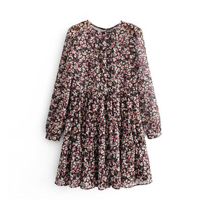 Night blossom tunic dress