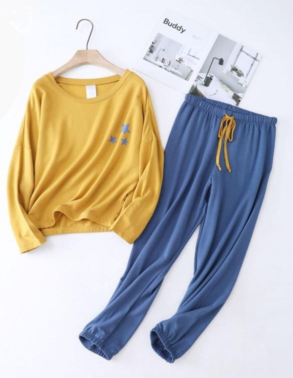 Yellow-Blue Stars PJ set