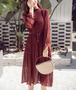 Ripple flowy midi dress (2 colors)