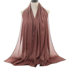 Silk crepe hijabs (15 Colors)
