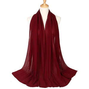 Chiffon Pleated Scarf (20 colors)