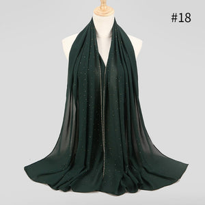 Crystal chiffon Scarf (19 colors)