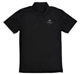 Send it golf premium embroidered black polo shirt. Sendit flagship polo