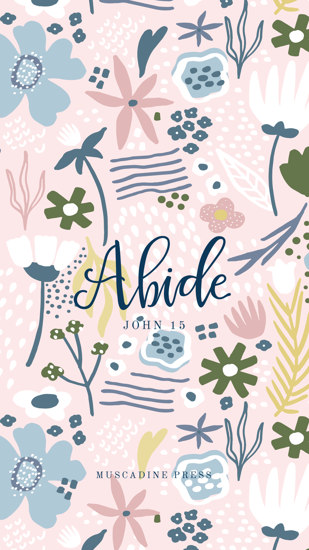 Abide lock screen from Muscadine Press