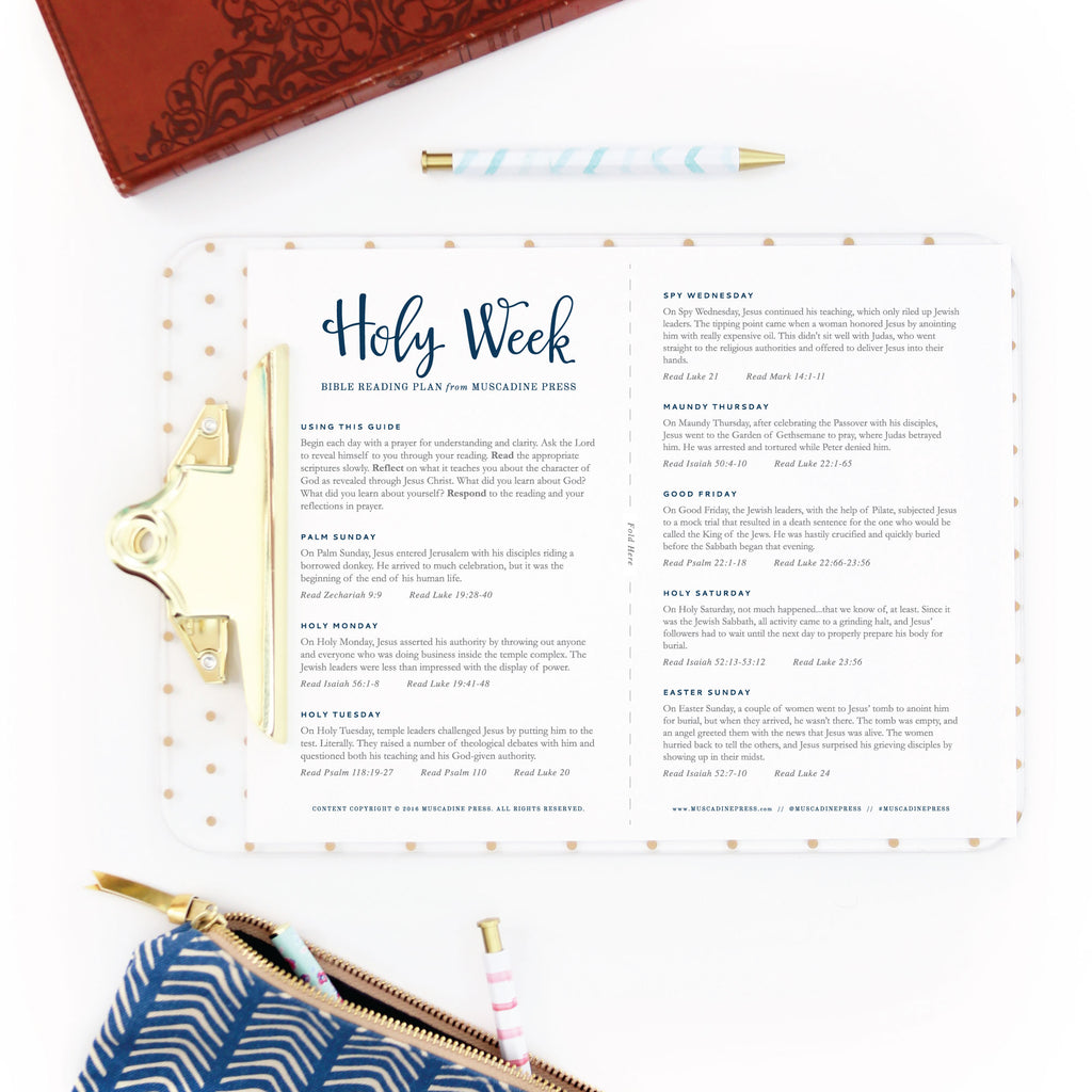 Free Printable Holy Week Bible Reading Plan