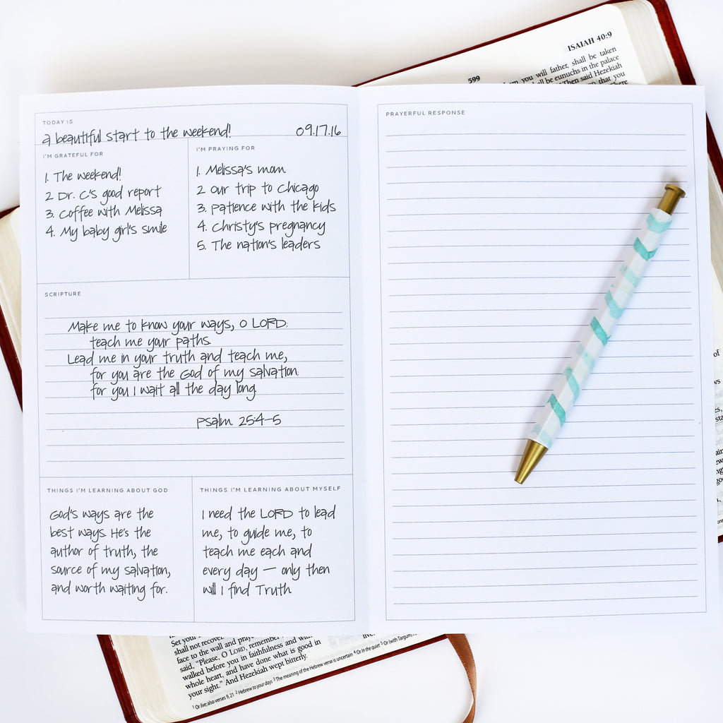 Simple quiet time journal from Muscadine Press