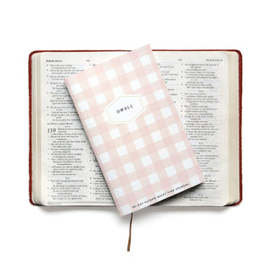 Blush Gingham Dwell Journal. A 30-day guided quiet time journal.