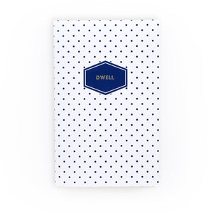 Navy Dot Dwell Journal from Muscadine Press