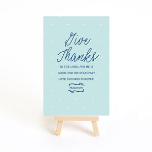Give Thanks to the Lord. Bible verse card from Muscadine Press.