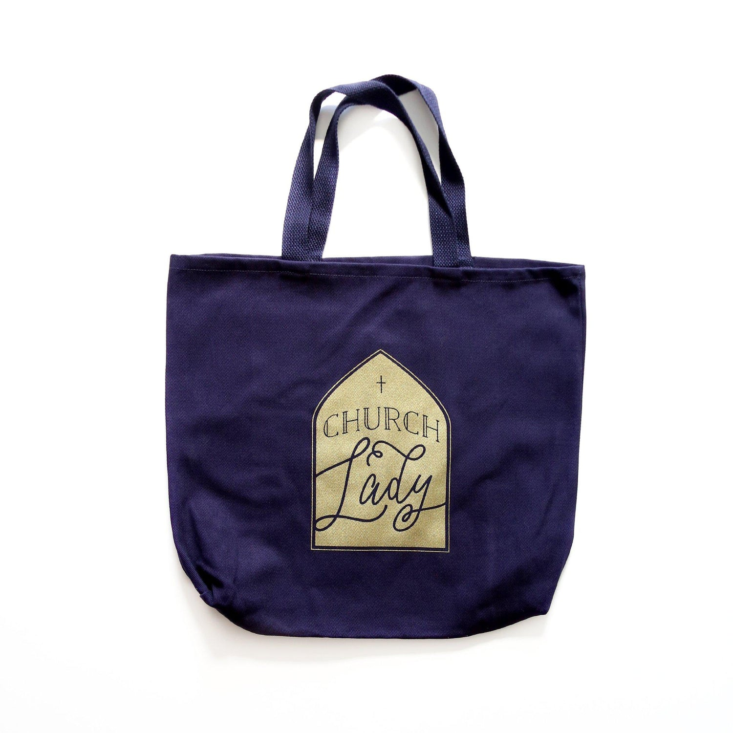 Church lady tote bag from Muscadine Press