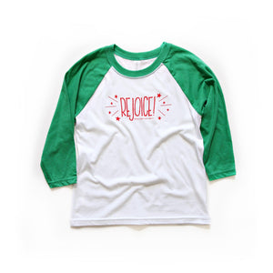 Rejoice! Super cute child's Christmas shirt form Muscadine Press