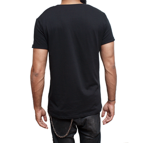 ACECOAST - Classic White print on Black T-shirt