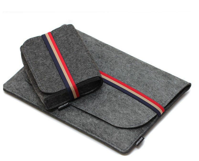 Macbook Laptop Carry bag/Case/Sleeve with Charger bag in Felt