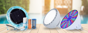 Solar Pool Ionizer and LED lights