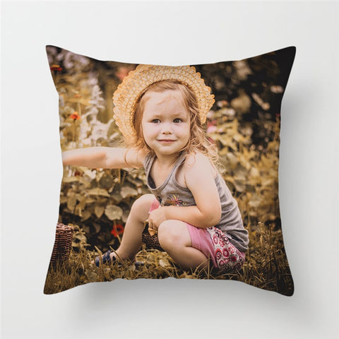 Image of Custom Photo Pillow Cover
