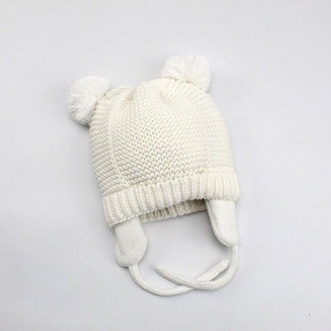 Image of Warm Knitted pompom Hat