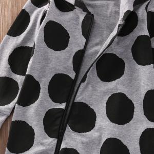 Polka Dot Hooded One Piece