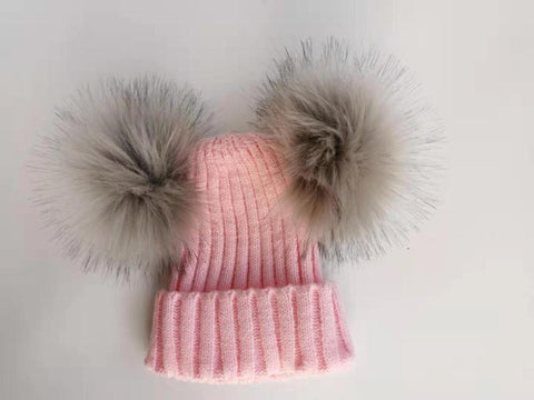 Image of Double Pom Pom Hat