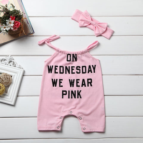Image of On Wednesday We Wear Pink Romper Set