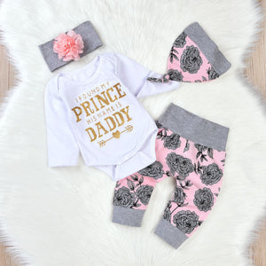 Daddy Is My Prince 4 Piece Floral Set