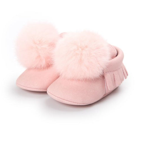 Image of Fur Moccasin Shoes